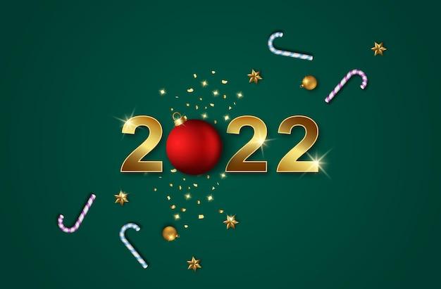 2022 con decorazioni natalizie