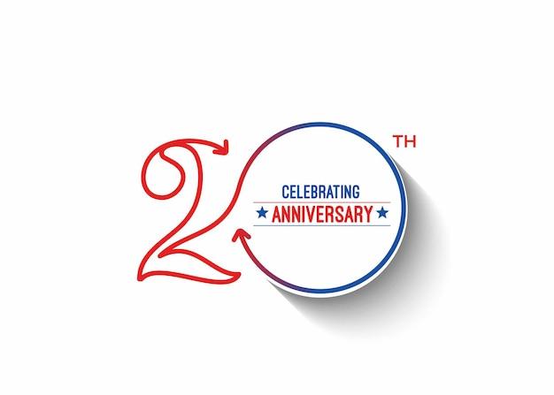 Illustrazione vettoriale di celebrazione del ventesimo anniversario
