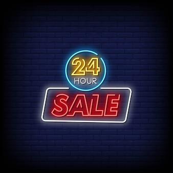 Insegne al neon di vendita 24 ore su 24