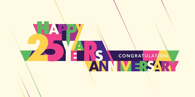 Icona del logo dell'anniversario dei 25 anni