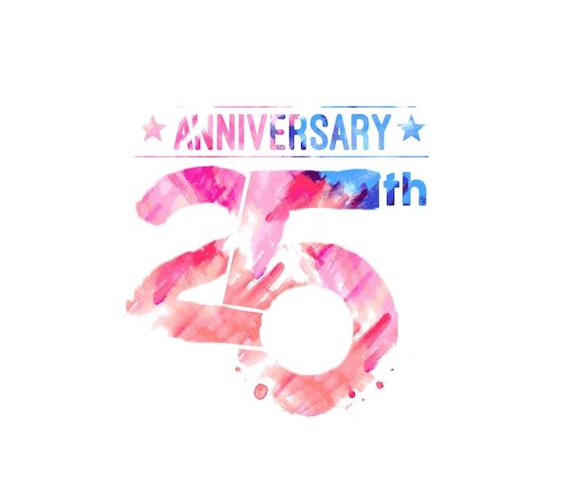 Design per la celebrazione del 25° anniversario