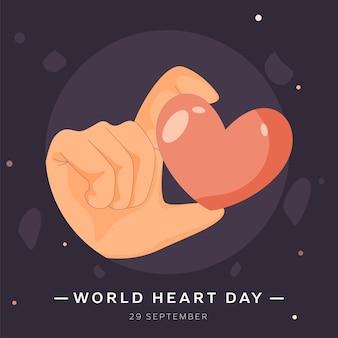 29 settembre, poster design per la giornata mondiale del cuore