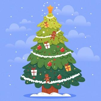 2d albero di natale illustrazione