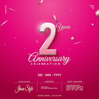 Invito per il 2° anniversario con nome e data del club