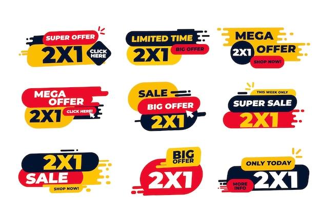 Etichette promozionali 2x1