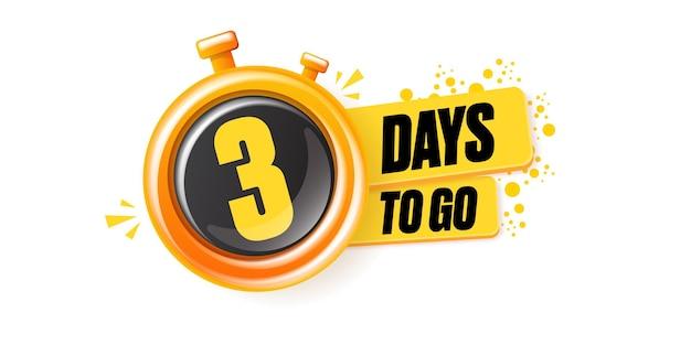 3 giorni per andare modello di progettazione banner