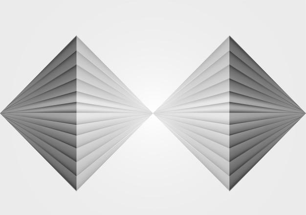 Illustrazione del fondo di vettore del concetto di riflessione di forma complessa di 3 dimensioni