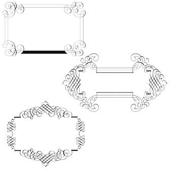 3 cornici decorative