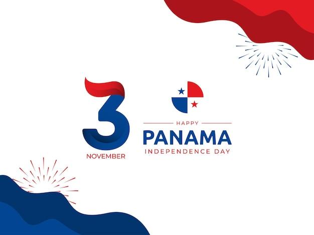 Immagine vettoriale di sfondo del giorno dell'indipendenza del 3 novembre panama