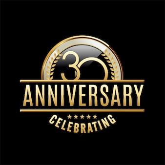 30 anni di anniversario emblema illustrazione