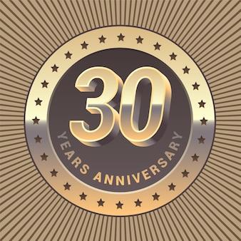 Modello di anniversario di 30 anni