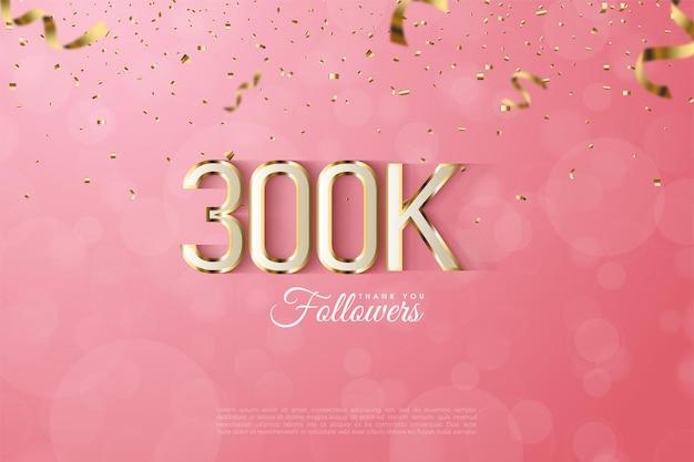 300k seguaci con una lussuosa figura con bordi dorati.