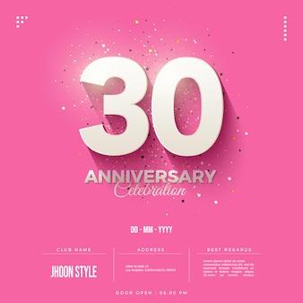 Sfondo dell'invito per la celebrazione del 30 ° anniversario