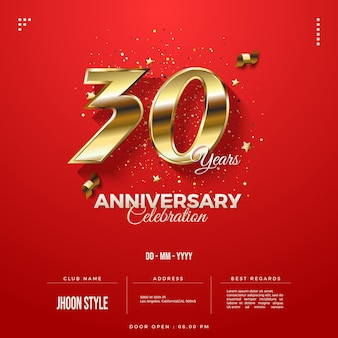 Invito per la celebrazione del 30° anniversario con data