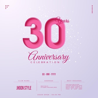 Invito per il 30° anniversario