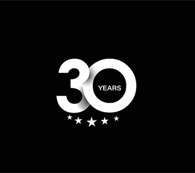 Design per la celebrazione del trentesimo anniversario.