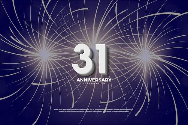 31° anniversario con edizione numeri 3d