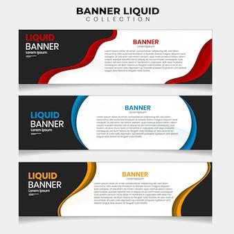 37. banner illustrazione vettoriale liquido. adatto per i tuoi annunci