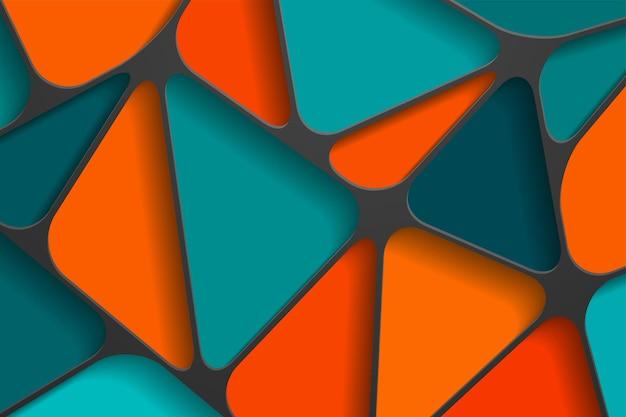 Fondo astratto 3d con forme tagliate di carta