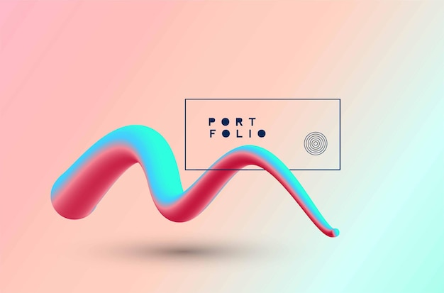 Disegno e fondo variopinti astratti dell'illustrazione 3d. utilizzare per il design moderno, copertina, poster, modello, brochure, decorato, flyer, banner.