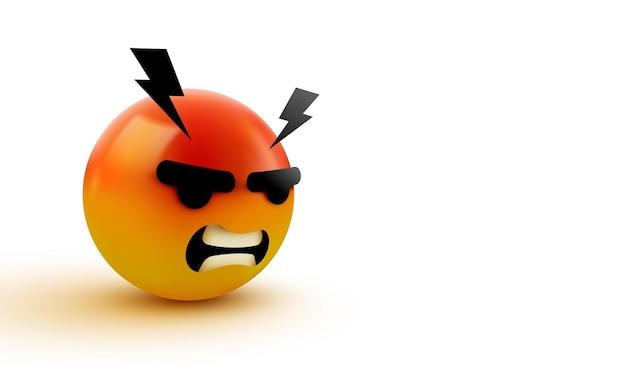 3d arrabbiato, segno emoji pazzo
