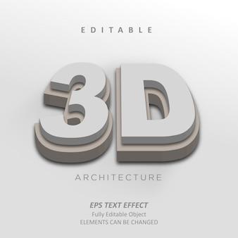 Effetto testo architettura 3d