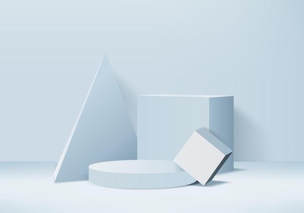 Piattaforma di sfondo 3d. piattaforma di cristallo del podio della rappresentazione del fondo 3d. vetrina scenica su piedistallo