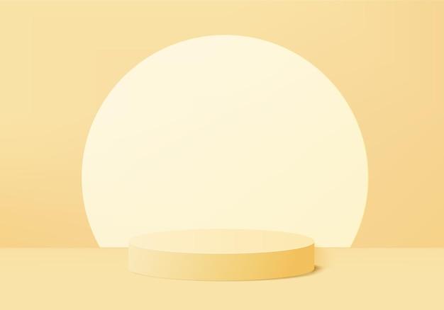 I prodotti di sfondo 3d mostrano la scena del podio con una piattaforma geometrica