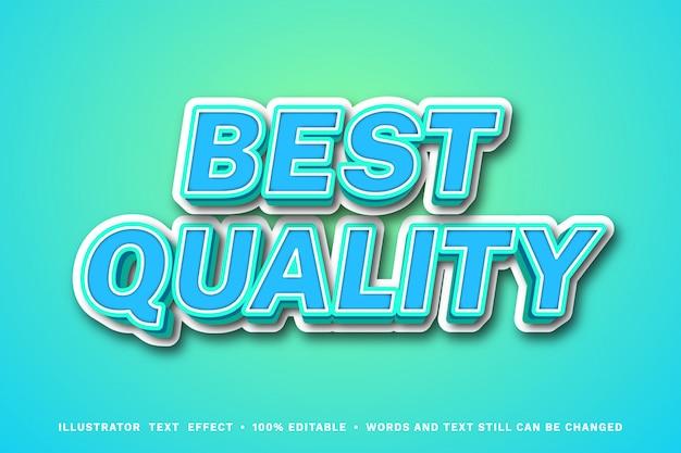 Migliore qualità 3d - effetto di testo modificabile