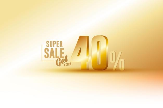 Sconto 3d migliore vendita banner con quaranta 40 percento