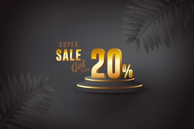 Sconto 3d migliore vendita banner con venti 20 percento