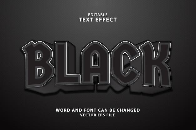 Effetto di testo modificabile nero 3d