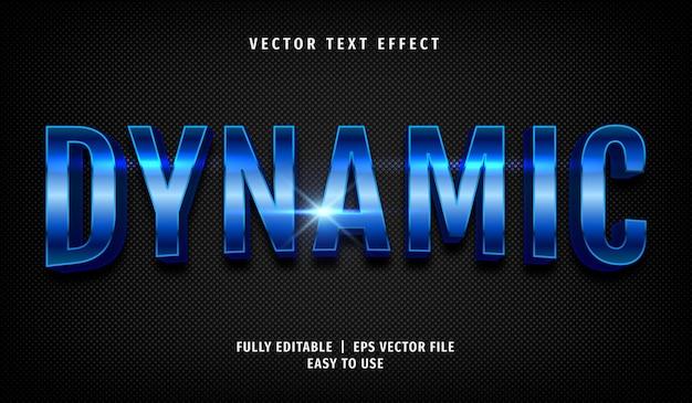 Effetto di testo dinamico blu 3d, stile di testo modificabile