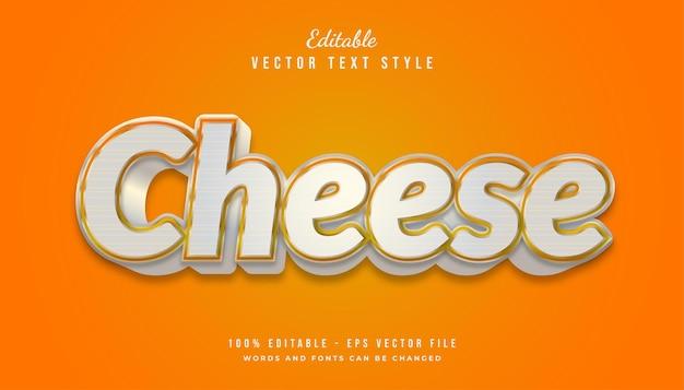 Effetto di stile di testo in grassetto 3d nei colori bianco e arancione