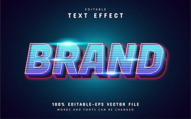 Effetto di testo del marchio 3d con motivo a linee