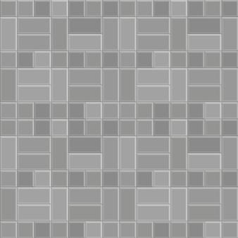 Fondo di struttura del modello della pavimentazione della pietra del mattone 3d, passeggiata grigia del pavimento, via senza cuciture