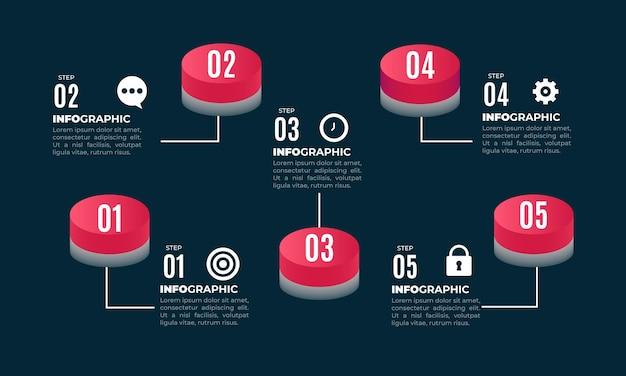 Progettazione infografica dei processi aziendali 3d