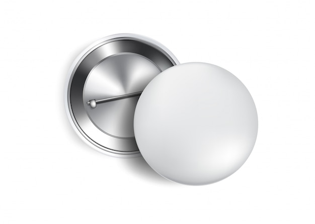 3d button pin realistico souvenir mockup.