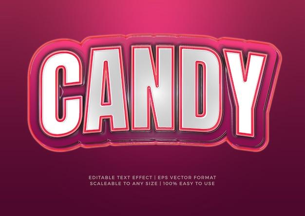Effetto testo titolo grafico 3d candy