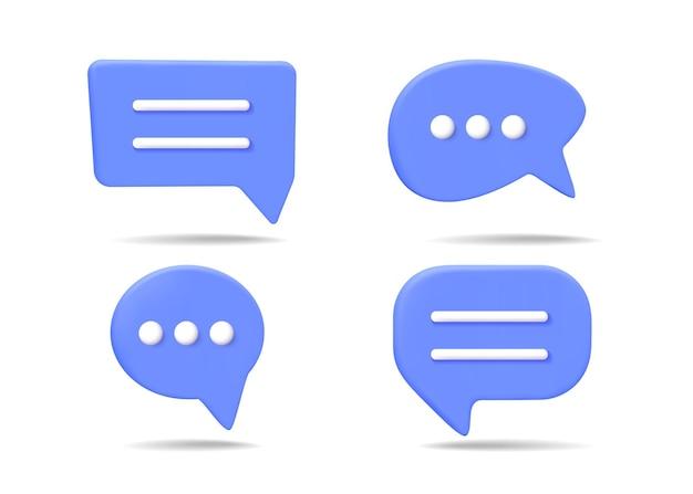 Illustrazione della bolla di chat 3d