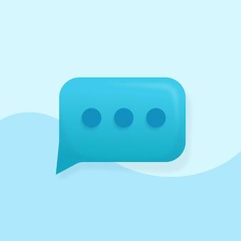 Bolla di chat 3d, conversazione, dialogo, messenger