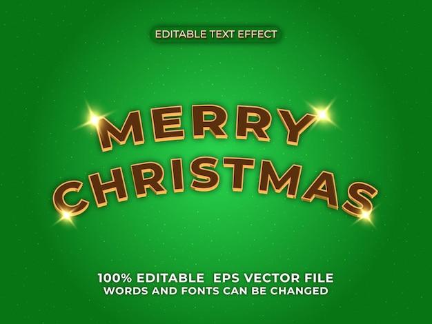 Modello di effetto testo natalizio 3d