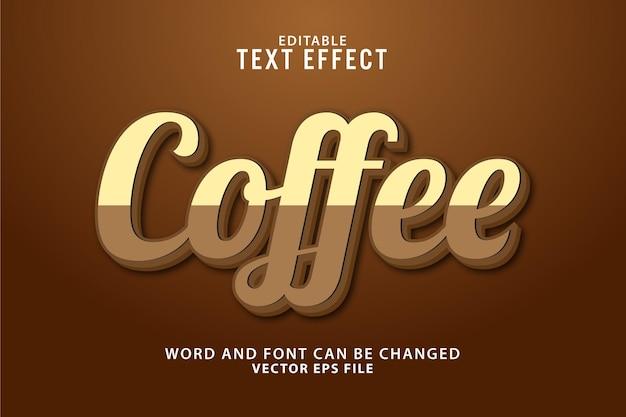 Effetto testo modificabile caffè 3d
