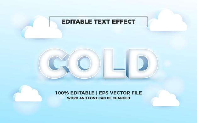 Effetto di testo modificabile freddo 3d