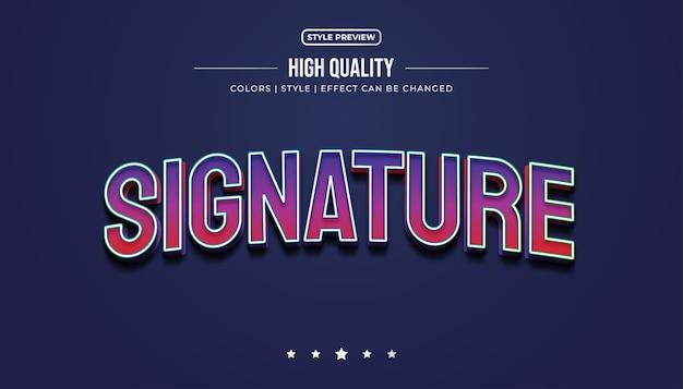 Effetto di stile di testo colorato 3d per l'identità della squadra di e-sport o il nome del logo