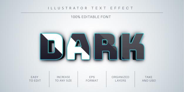 Stile di carattere effetto testo scuro 3d