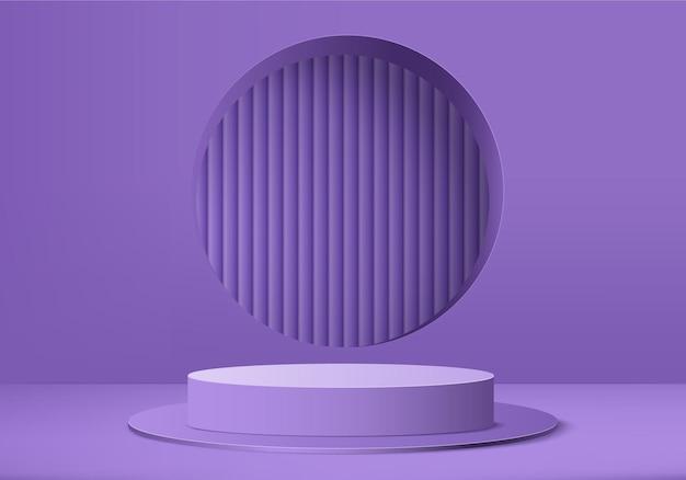 Scena minimale astratta del prodotto di visualizzazione 3d con piattaforma geometrica del podio.