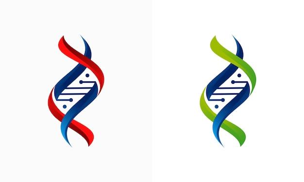 Concetto di design del logo dna 3d, design del logo gen