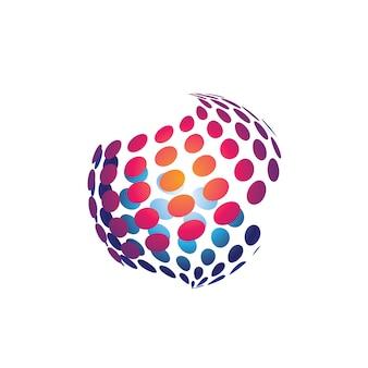 Logo sfera 3d dot