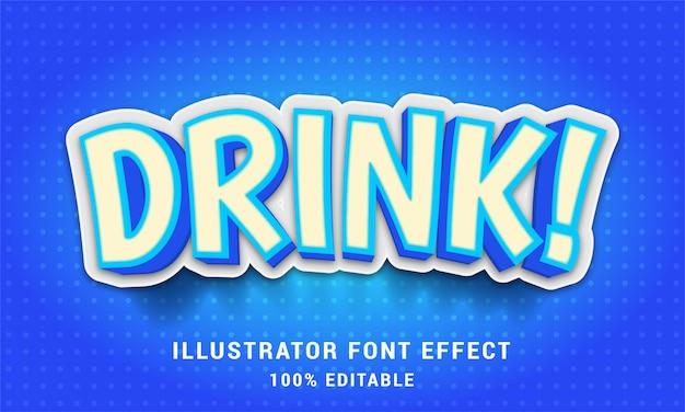Bevanda 3d: facile effetto di testo modificabile